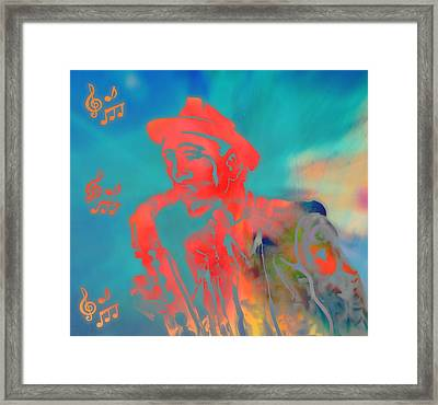 Pop Art Jazz Man Framed Print by Dan Sproul