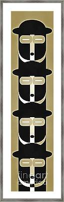 Pop Art People Totem 5 Framed Print by Edward Fielding
