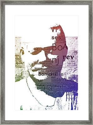 Pop Art Statue  Framed Print by Toppart Sweden