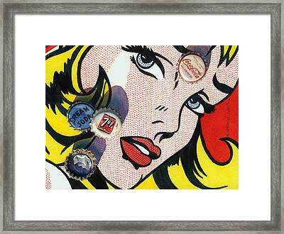 Pop Caps And Pop Art II Framed Print by Marguerite Chadwick-Juner