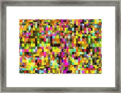 Pop Colors 17 Framed Print by Craig Gordon