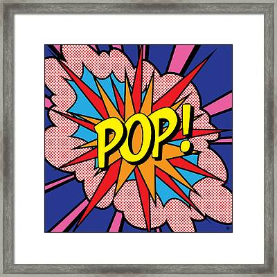 Pop Exclamation Framed Print by Gary Grayson