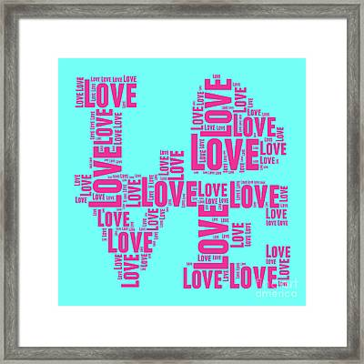 Pop Love 1 Framed Print by Delphimages Photo Creations