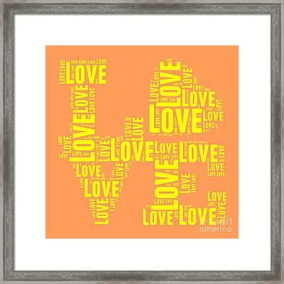 Pop Love 3 Framed Print by Delphimages Photo Creations