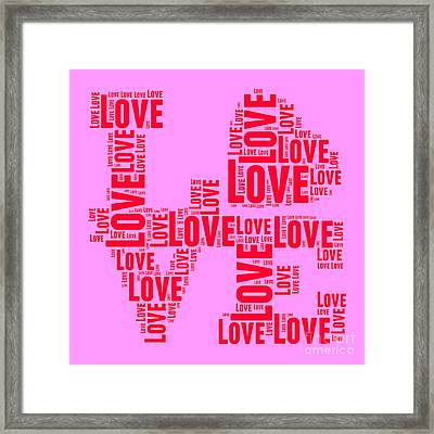 Pop Love 4 Framed Print by Delphimages Photo Creations