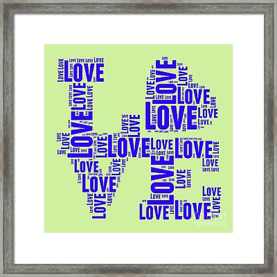 Pop Love 5 Framed Print by Delphimages Photo Creations