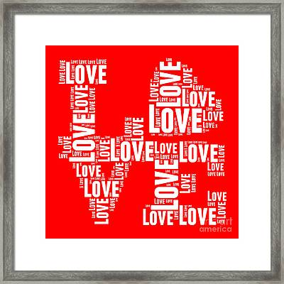 Pop Love 6 Framed Print by Delphimages Photo Creations