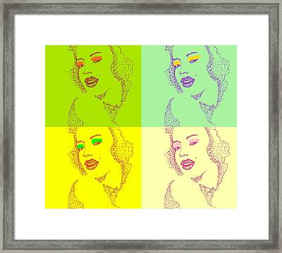 Popart Framed Print by Anne Costello