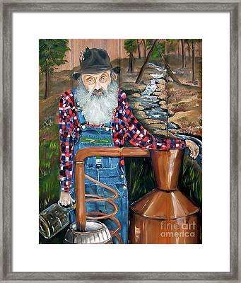Popcorn Sutton - Bootlegger - Still Framed Print by Jan Dappen
