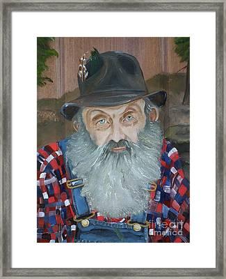 Popcorn Sutton - Moonshiner - Portrait Framed Print by Jan Dappen