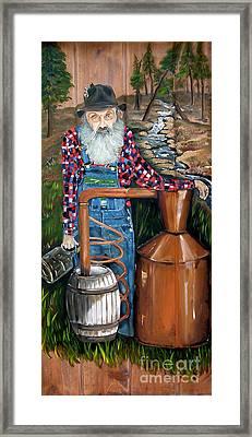 Popcorn Sutton - Moonshiner - Redneck Framed Print by Jan Dappen