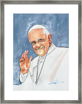 Pope Francis Framed Print by Dave Olsen