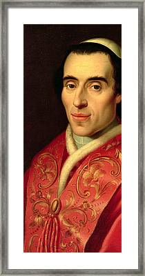 Pope Pius Vii Framed Print by Anonymous