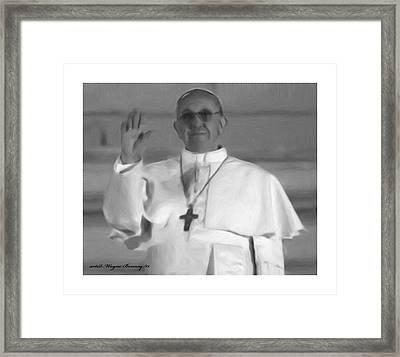Pope St. Francis I Framed Print by Wayne Bonney