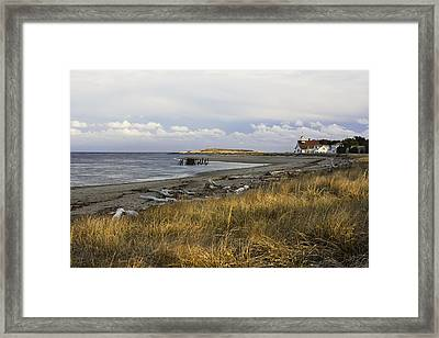 Popham Beach On The Maine Coast Framed Print by Keith Webber Jr