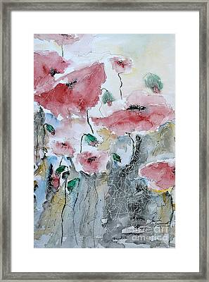 Poppies 01 Framed Print by Ismeta Gruenwald
