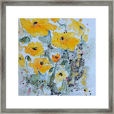 Poppies 02 Framed Print by Ismeta Gruenwald