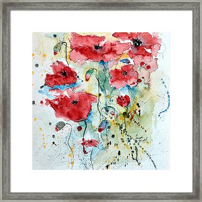 Poppies 04 Framed Print by Ismeta Gruenwald