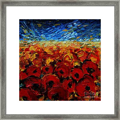 Poppies 2 Framed Print by Mona Edulesco
