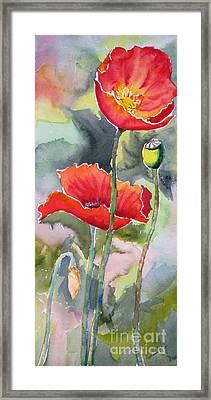 Poppies 3 Framed Print by Mohamed Hirji