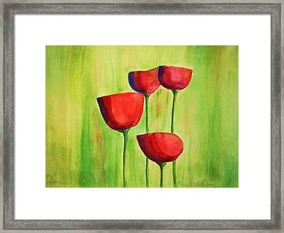 Poppies 4 Framed Print by Julie Lueders