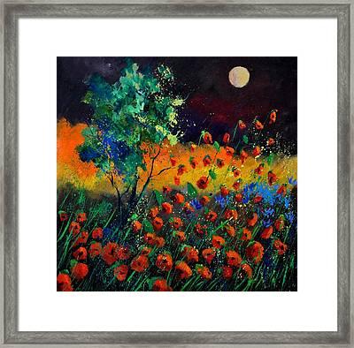 Poppies 774111 Framed Print by Pol Ledent