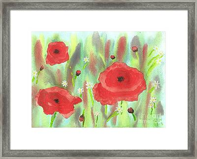 Poppies And Daisies Framed Print by John Williams