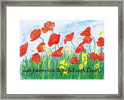 Poppies Framed Print by Catherine Saldana