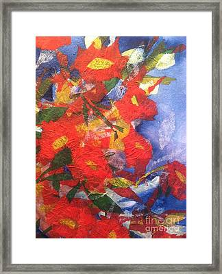 Poppies Gone Wild Framed Print by Sherry Harradence