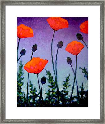 Poppies In The Sky II Framed Print by John  Nolan