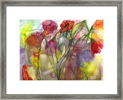 Poppies In The Sun Framed Print by Claudia Smaletz