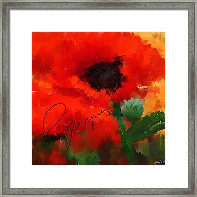 Poppies Framed Print by Lourry Legarde