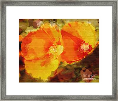 Poppies On Fire Framed Print by Artist and Photographer Laura Wrede