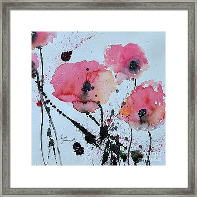 Poppies- Painting Framed Print by Ismeta Gruenwald