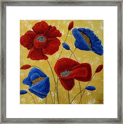 Poppies Framed Print by Susan McLean Gray