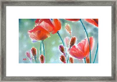Poppy Field Framed Print by Natasha Denger