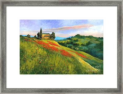 Poppy Hill Framed Print by Michael Swanson