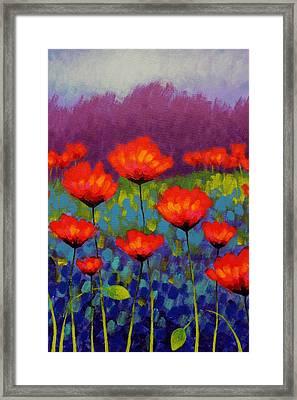 Poppy Meadow   Cropped Framed Print by John  Nolan