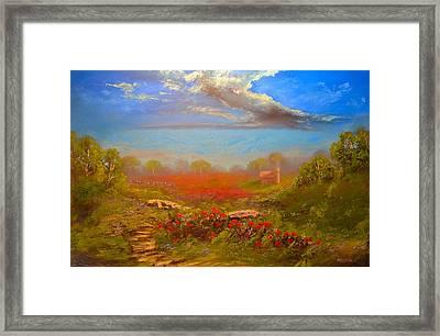 Poppy Morning Framed Print by Michael Mrozik