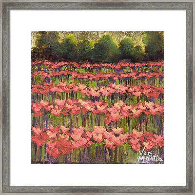 Poppy Romance Framed Print by Vic  Mastis