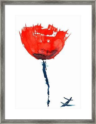 Poppy Framed Print by Zaira Dzhaubaeva