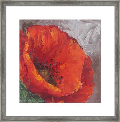 Poppy1 Framed Print by Susan Richardson