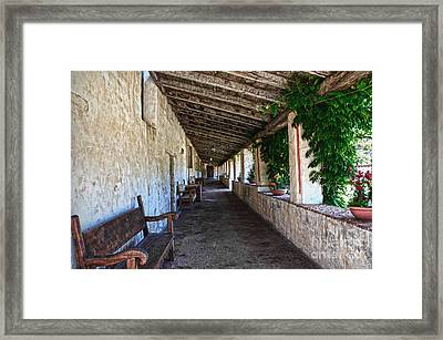 Porch On Carmel Mission Framed Print by RicardMN Photography