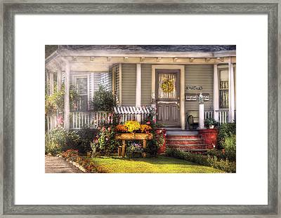 Porch - Westfield Nj - The House Of An Angel Framed Print by Mike Savad
