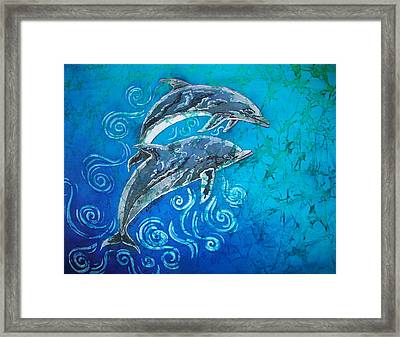 Porpoise Pair Framed Print by Sue Duda