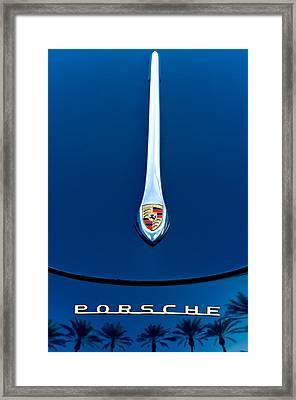 Porsche 1600 Super Hood Emblem Framed Print by Jill Reger