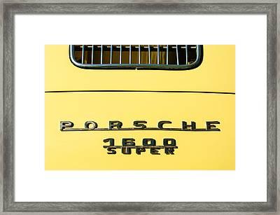 Porsche 1600 Super Rear Emblem Framed Print by Jill Reger