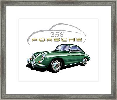 Porsche 356 Coupe Green  Framed Print by David Kyte