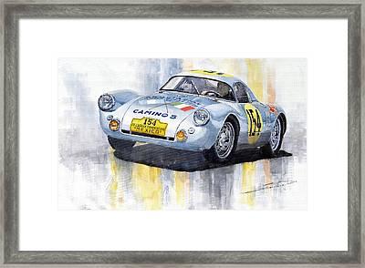 Porsche 550 Coupe 154 Carrera Panamericana 1953 Framed Print by Yuriy  Shevchuk