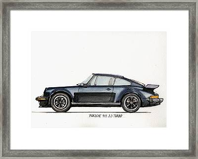 Porsche 911 930 Turbo Framed Print by Juan  Bosco